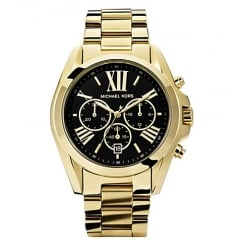 Michael Kors Ladies' Gold Bradshaw Chronograph Watch