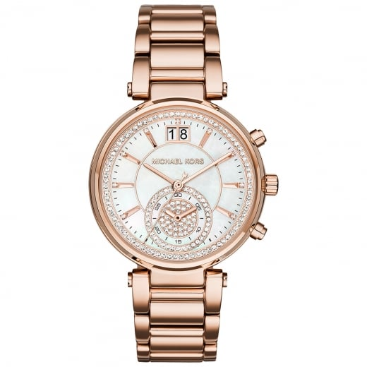 Michael Kors Watches Micheal Kors Ladies' Rose Sawyer Chronograph Watch