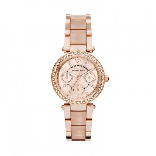 Michael Kors Watches Mini Parker Rose and Pink Ladies Watch