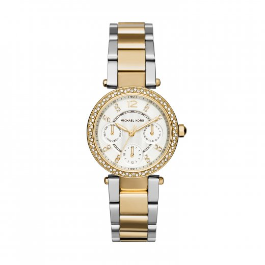 Michael Kors Watches Mini Parker Two-Tone Gold & Stainless Steel Ladies Watch