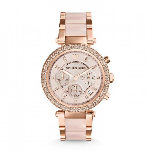 Michael Kors Watches Parker Rose And Pink Ladies Watch