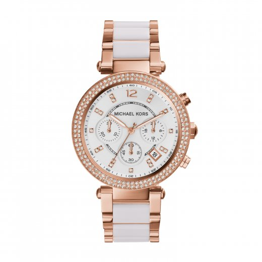 Michael Kors Watches Parker Rose And White Ladies Watch