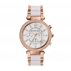 Parker Rose And White Ladies Watch
