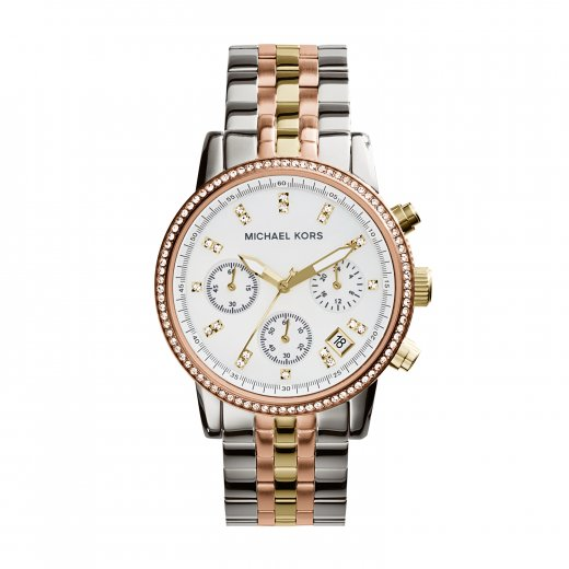 Michael Kors Watches Ritz Three-Tone Rose/ Gold/ Stainless Steel Ladies Watch