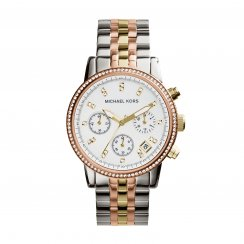 Ritz Three-Tone Rose/ Gold/ Stainless Steel Ladies Watch