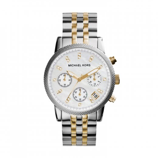 Michael Kors Watches Ritz Two-Tone Stainless Steel/ Gold Ladies Watch