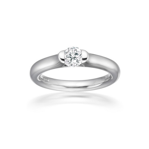 Paul Spurgeon 0.25ct Round Brilliant Cut Diamond Solitaire Tension Set Engagement Ring In Platinum