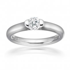 0.25ct Round Brilliant Cut Diamond Solitaire Tension Set Engagement Ring In Platinum