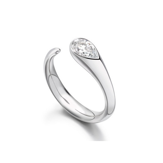 Paul Spurgeon 0.70ct Pear Cut Diamond Solitaire Engagement Ring In Platinum