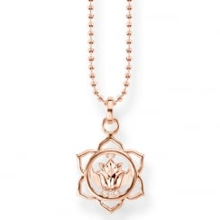 Rose Gold Splenic Chakra Necklace