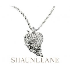 Diamond Thorned Heart Pendant