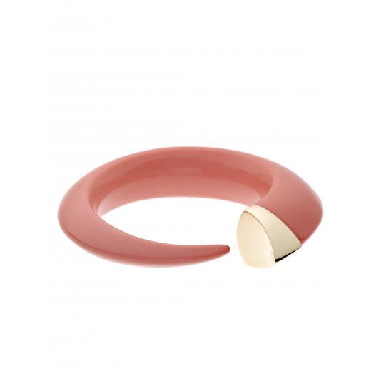Shaun Leane Gold Vermeil Soft Pink Coral Resin Tusk Bangle