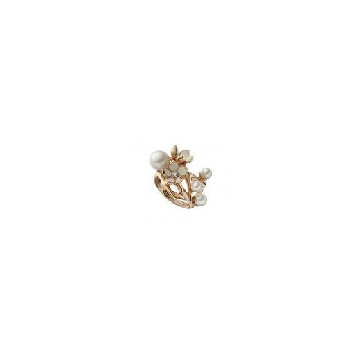 Shaun Leane Rose Gold Vermeil Cherry Blossom Ring with Diamonds & White Pearl