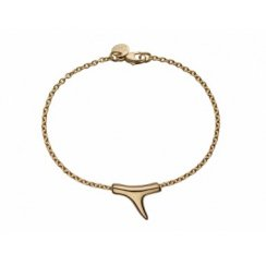Rose Gold Vermeil Silver Branch Single Bracelet