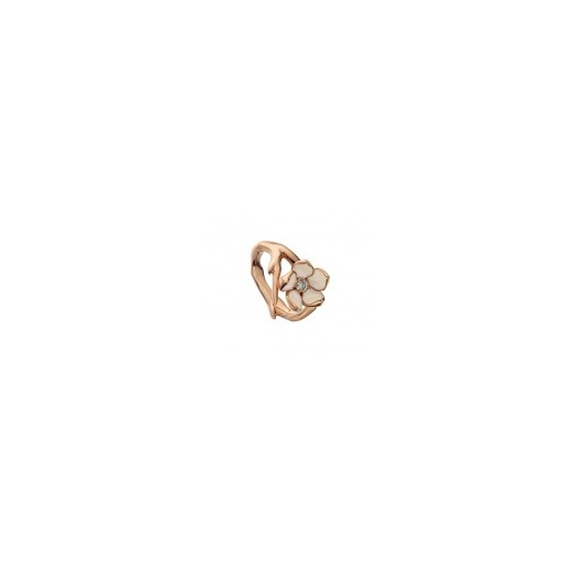 Shaun Leane Rose gold vermeil single Cherry Blossom ring with Diamond