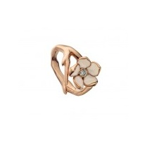 Rose gold vermeil single Cherry Blossom ring with Diamond
