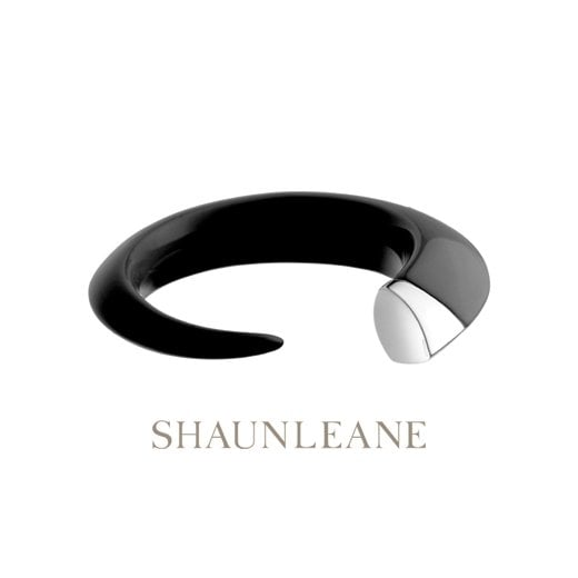 Shaun Leane Silver & Ebony resin Tusk bangle - Medium