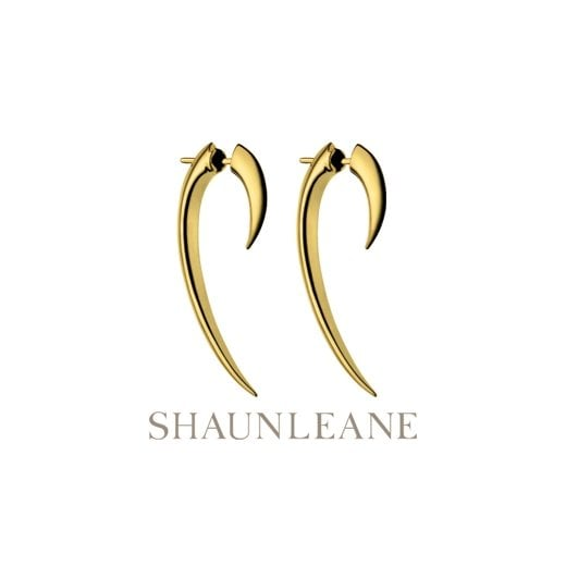 Shaun Leane Silver & Gold Vermeil Hook Earrings - Size 1