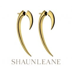 Silver & Gold Vermeil Hook Earrings - Size 1