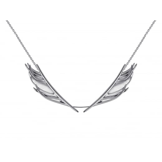 Shaun Leane Silver & Mother of Pearl White Feather Necklace