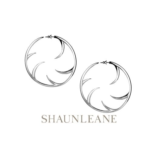 Shaun Leane Silver Multi Cat Claw Hoop Earrings