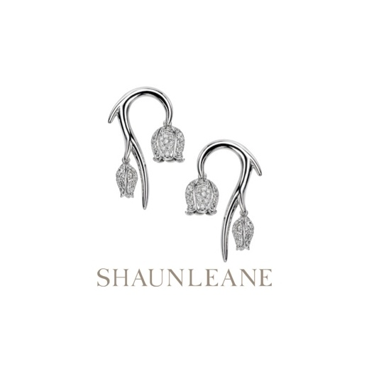 Shaun Leane Small Diamond Maybell Earrings