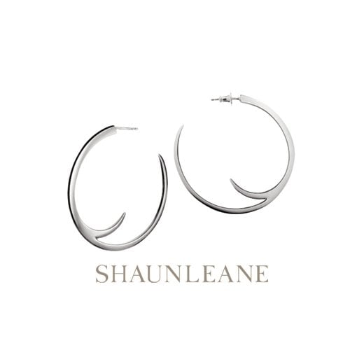 Shaun Leane Sterling Silver Cat Claw Hoop Earrings