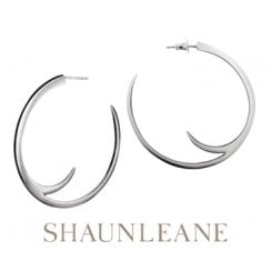 Sterling Silver Cat Claw Hoop Earrings