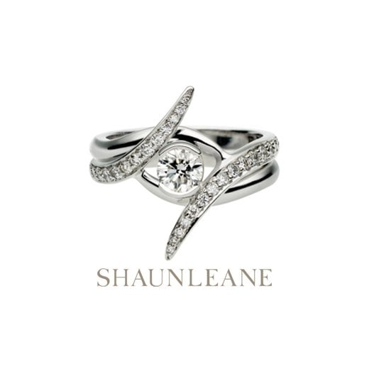 Shaun Leane White Gold 0.35ct Outward Locking Engagement Ring
