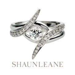 White Gold 0.35ct Outward Locking Engagement Ring