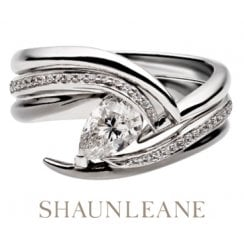 White Gold Captured Vine Engagement Ring