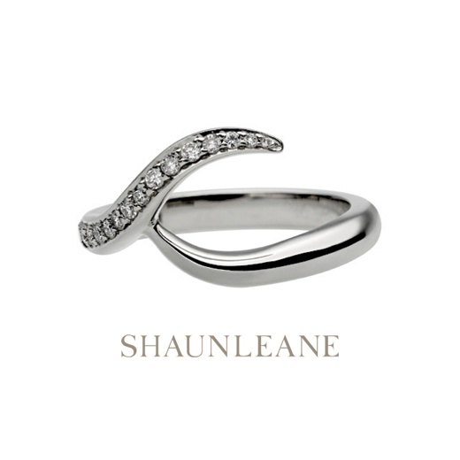 Shaun Leane White Gold & Diamond Interlocking Wedding Band