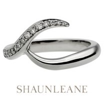 White Gold & Diamond Interlocking Wedding Band