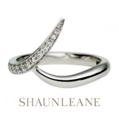 White Gold Pave set outward interlocking Wedding Band