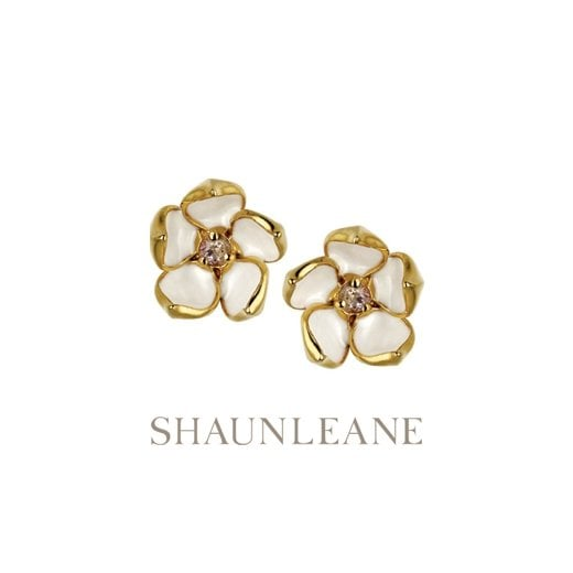 Shaun Leane Yellow Gold vermeil Cherry Blossom studs - Small