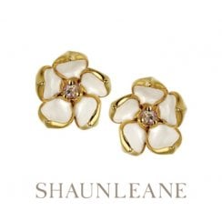 Yellow Gold vermeil Cherry Blossom studs - Small
