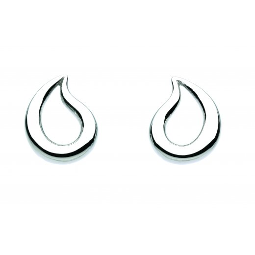Kit Heath Silver Teardrop Stud Earrings