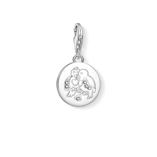 Thomas Sabo Silver Two Turtle Doves Charm