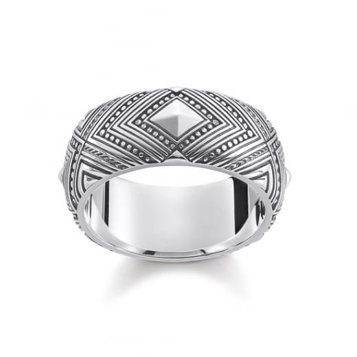 Thomas Sabo Africa Ornaments Sterling Silver Ring - Size 56