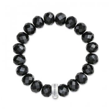 Thomas Sabo Black Obsidian Charm Club Bracelet (Medium)