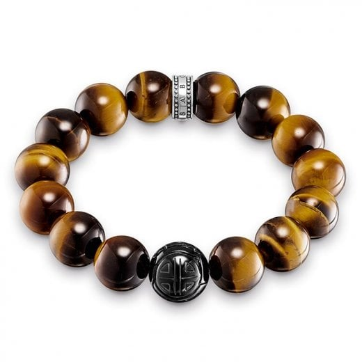 "Thomas Sabo Brown Obsidian ""Power Bracelet"" - 18cm"