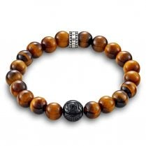 Brown Tiger's Eye Bead Bracelet - 17.5cm