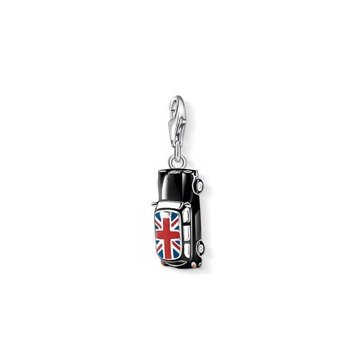 Thomas Sabo Charm Club Black Enamel London Taxi Charm