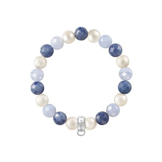 Thomas Sabo Charm Club Blue Stones & Pearl Bracelet (Small)