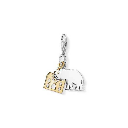 Thomas Sabo Charm Club Elephant With Yellow Gold Plated Dream Charm