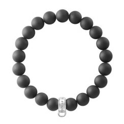 Charm Club Matt Black Obsidian Bead Bracelet (Small)