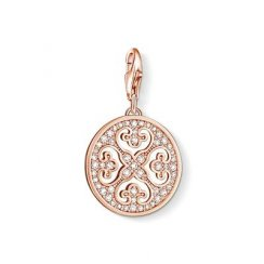 Charm Club Ornament Rose Gold Plated Charm
