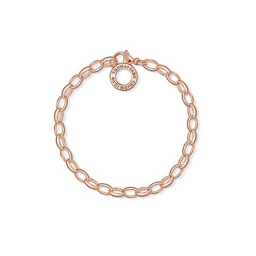 Thomas Sabo Charm Club Rose Gold Bracelet (Large)