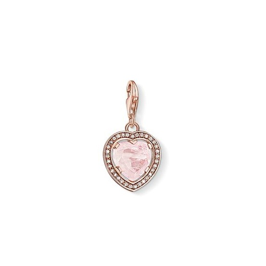 Thomas Sabo Charm Club Rose Gold Plated And Rose Quartz Heart