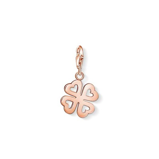 charm club rose gold plated heart cloverleaf charm thomas sabo clearwater. Black Bedroom Furniture Sets. Home Design Ideas